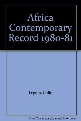 9780841905511: Africa Contemporary Record 1980-81: 13