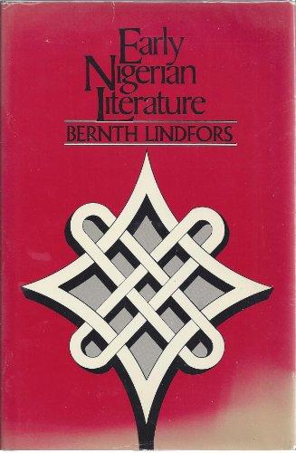 9780841907409: Early Nigerian Literature