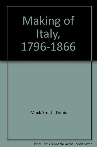 9780841911710: The Making of Italy, 1796-1866