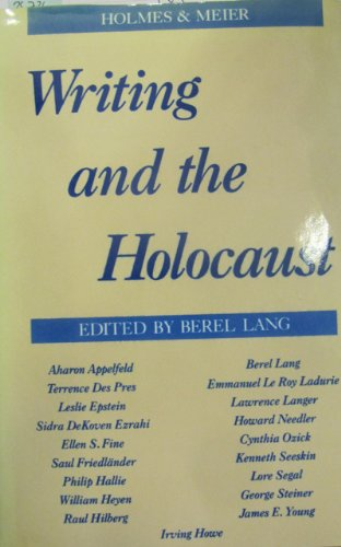 9780841911840: Writing and the Holocaust