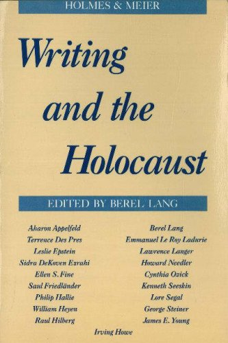 9780841911857: Writing and the Holocaust