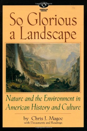 9780842026956: So Glorious a Landscape: Nature and the Environment in American History and Culture (American Visions: Readings in American Culture)