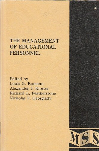 9780842202992: The Management of educational personnel: readings on the administration of human resources