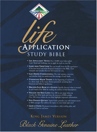 9780842320979: Life Application Study Bible, KJV, Black Genuine Leather (Life Application Bible (KJV))