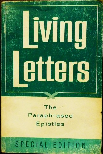 9780842326001: Living Letters: Paraphrased Epistles