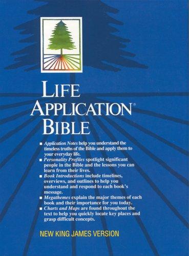 9780842329576: Life Application Bible: NKJV (Navy Bonded Leather)
