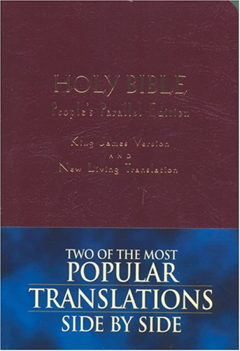 9780842332613: Holy Bible: King James Version, New Living Translation--TBN Parallel Edition (Burgundy Imitation Leather)