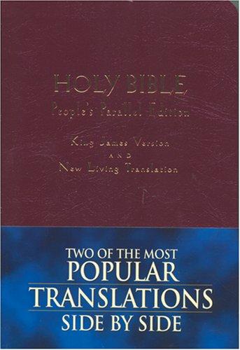 9780842332613: Holy Bible: King James Version, New Living Translation--TBN Parallel Edition (Burgundy Imitation Leather)