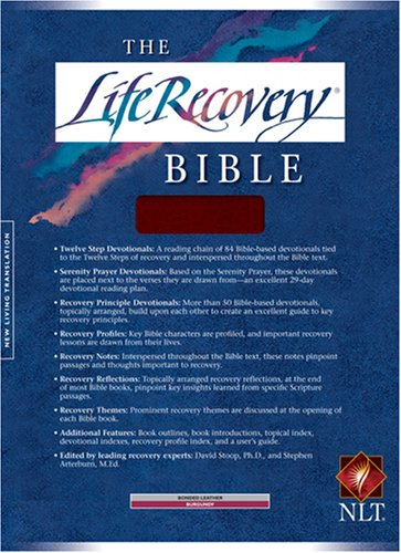 9780842333436: Bib Life Recovery Bible: Bonded Leather/Burgandy