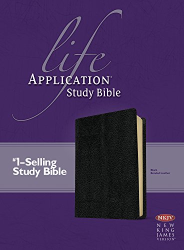 9780842340403: Life Application Study Bible: New King James Version, Black, Bonded Leather