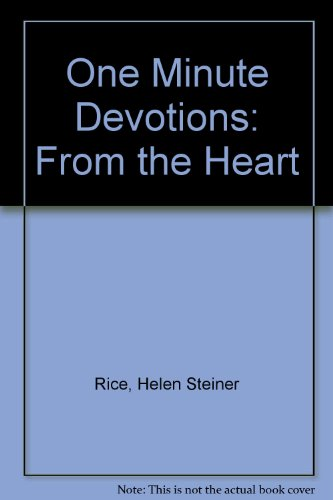 9780842343640: One Minute Devotions: From the Heart
