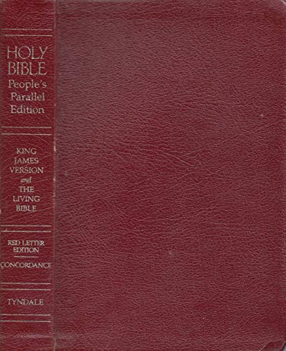 9780842348041: Holy Bible: People's Parallel, King James Version and the Living Bible, Burgundy Bonded
