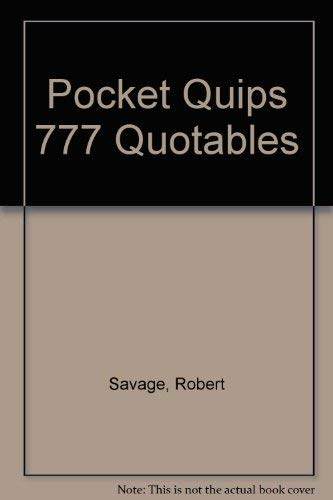 9780842349048: Pocket Quips 777 Quotables