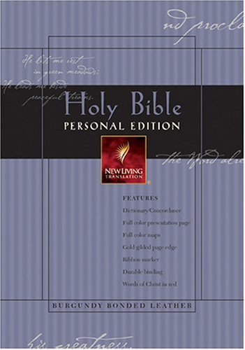 9780842354509: Holy Bible: New Living Translation, Personal Edition, Burgundy