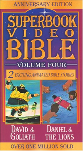 9780842368100: David and Goliath / Daniel and the Lions (Superbook Video Bible #04) [VHS]