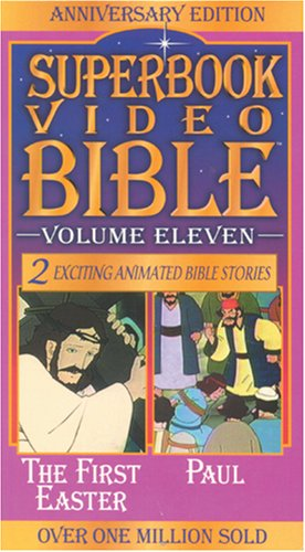 9780842368179: The First Easter / Paul (Superbook Video Bible #11) [VHS]