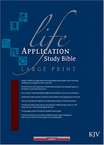 9780842368858: Life Application Study Bible KJV, Large Print