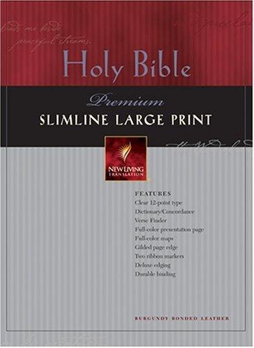 9780842368902: Holy Bible: New Living Translation, Premium Slimline, Burgundy Bonded Leather