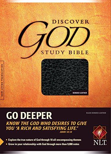 9780842369190: Discover God Study Bible: New Living Translation, Black Bonded Leather