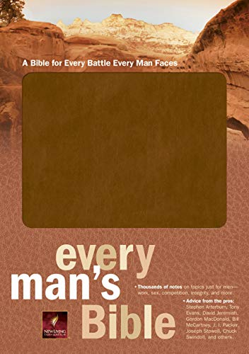 9780842374842: Every Man's Bible: New Living Translation, Tan Bonded Leather
