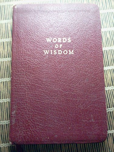 9780842383004: Words of Wisdom; From The Living Psalms and Proverbs