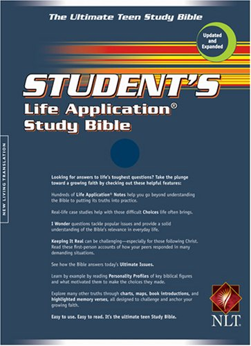9780842385121: Student's Life Application Bible: New Living Translation, Navy Bonded Leather
