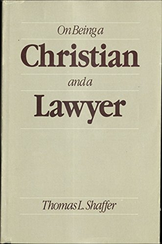 9780842518338: On Being a Christian and a Lawyer: Law for the Innocent