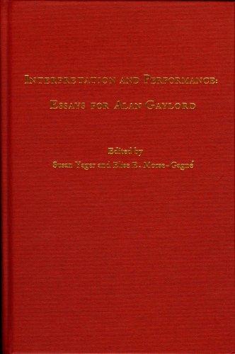 9780842528443: Interpretation and Performance: Essays for Alan Gaylord