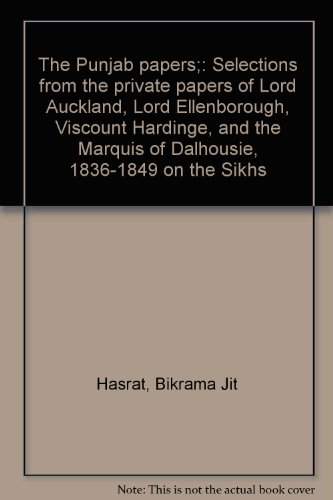 The Punjab papers;: Selections from the private papers of Lord Auckland, Lord.