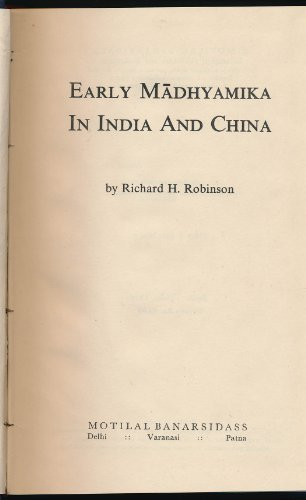 9780842609043: Early Madhyamika in India and China
