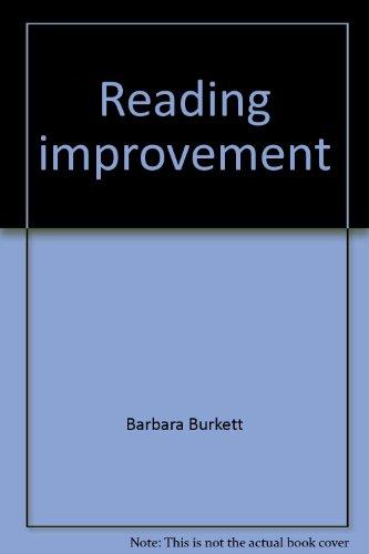 Reading improvement: Burkett, Barbara