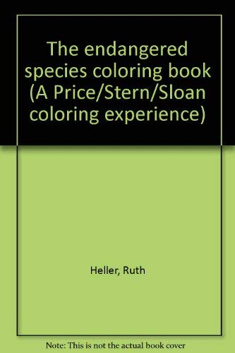 9780843102192: Title: The endangered species coloring book A PriceSternS