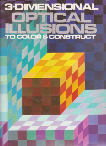3-Dimensional Optical Illusions to Color & Construct: Evans, Larry