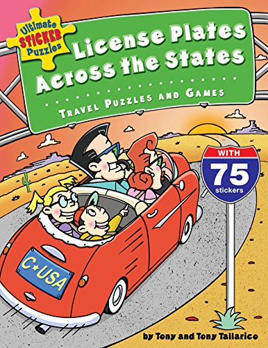 9780843177374: Ultimate Sticker Puzzles: License Plates Across the States: Travel Puzzles and Games