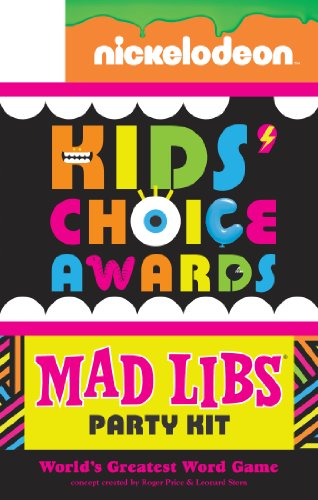 9780843180282: Nickelodeon Kids' Choice Awards Mad Libs Party Kit