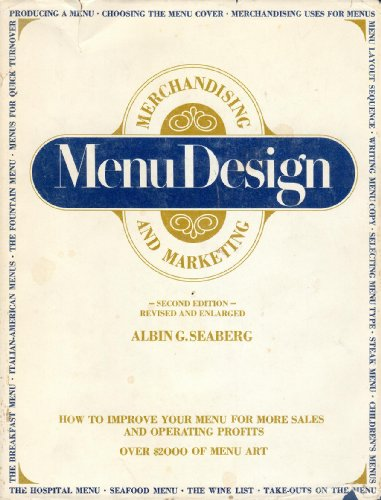 9780843605723: Menu Design, Merchandising and Marketing