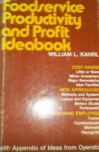 9780843605945: Foodservice productivity and profit ideabook: With appendix of ideas from operators