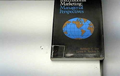 9780843609035: International Marketing: Managerial Perspectives