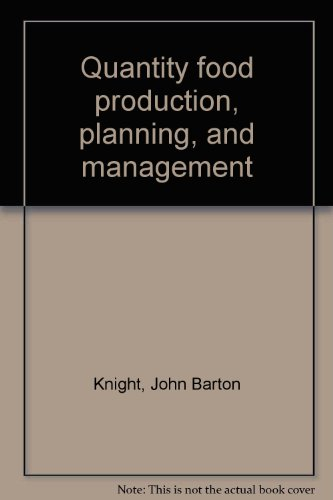 9780843621433: Quantity food production, planning, and management