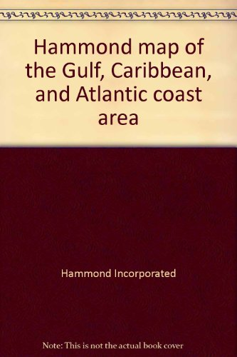 9780843701043: Hammond map of the Gulf, Caribbean, and Atlantic coast area