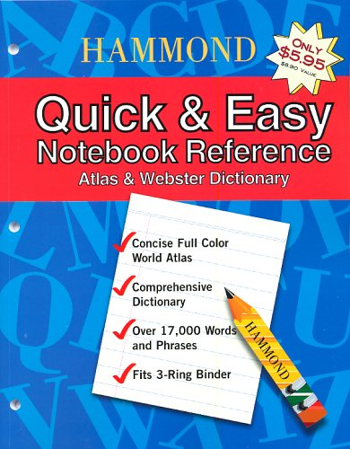 9780843709223: Hammond Quick & Easy Notebook Reference: Atlas & Webster Dictionary
