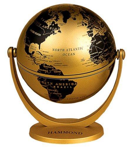 9780843718850: Hammond Mini Globe: Swivel & Tilt Metallic Finish, Bronze & Brown