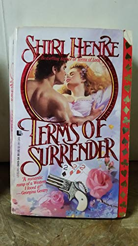 Terms of Surrender 9780843934243 Although he owns half of Starlight, Colorado, devilishly handsome Rhys Davies is determined to add the beautiful daughter of the town's First Family to his list of possessions. Original.