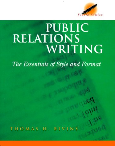 9780844203515: Public Relations Writing: The Essentials of Style and Format