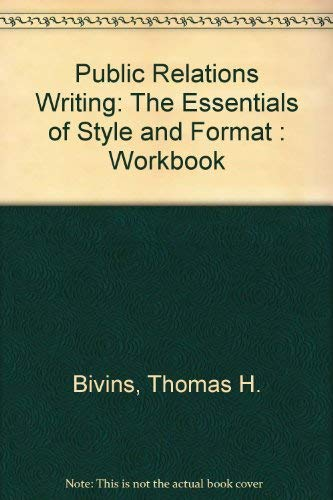 9780844203522: Public Relations Writing: The Essentials of Style and Format : Workbook