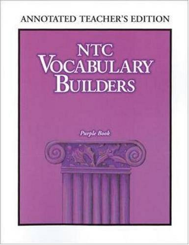 NTC Vocabulary Builders, Purple Book (9780844203935) by McGraw-Hill
