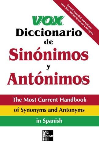 9780844204697: Vox Diccionario De Sinónimos Y Antónimos (Vox Dictionary Series)