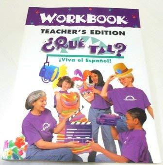 9780844209630: Viva El Espanol: Que Tal?, Workbook Teacher's Edition
