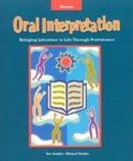 9780844217406: Oral Interpretation : Bringing Literature to Life Through Performance