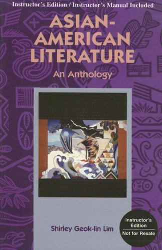 9780844217444: Asian-American Literature: An Anthology